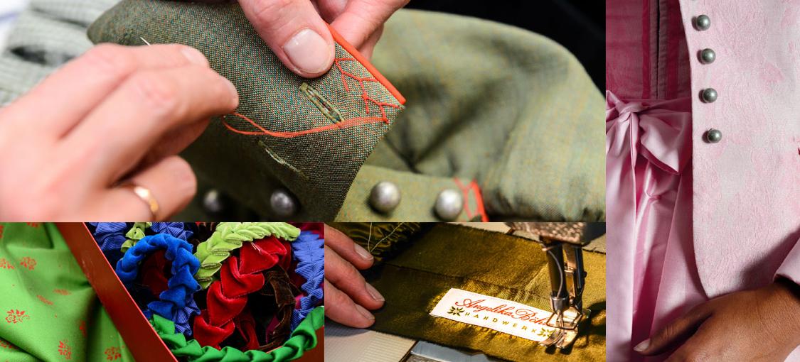Handarbeit – nicht nur in den Details. Im Atelier Angelika Böhm wird viel Wert auf Qualität gelegt.
