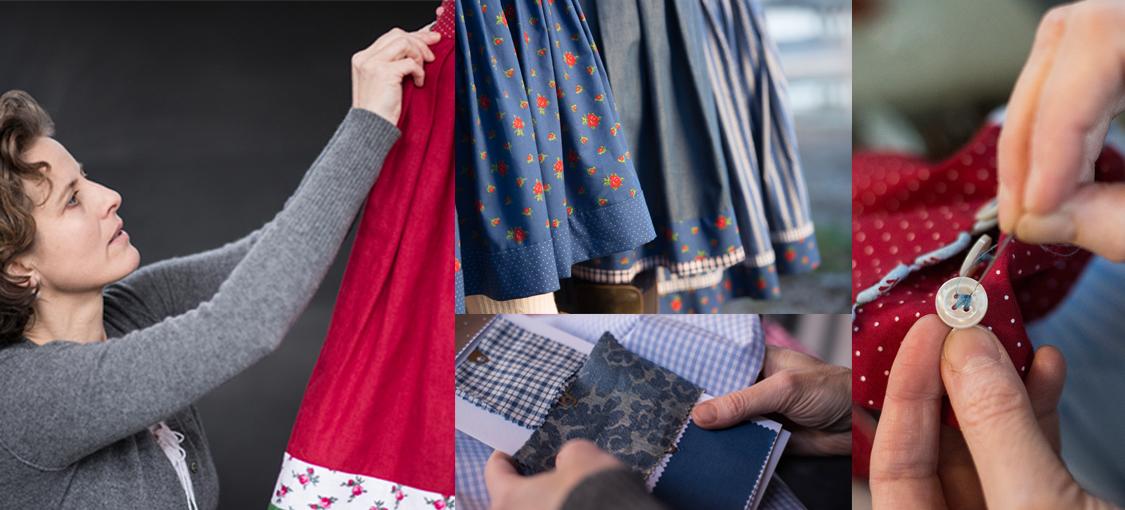 Sorgfältige Auswahl der Stoffe und liebevolle Handarbeit machen die Röcke von Caroline Lauenstein zu etwas ganz Besonderem