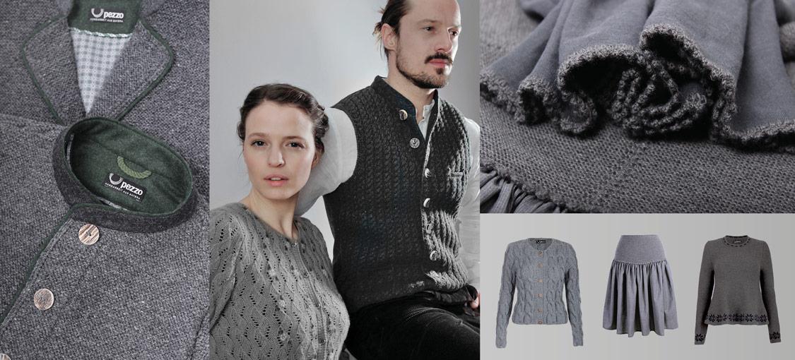 Handgestrickte Trachtenjacken mit traditionellen Mustern fertigt Petra Zoller