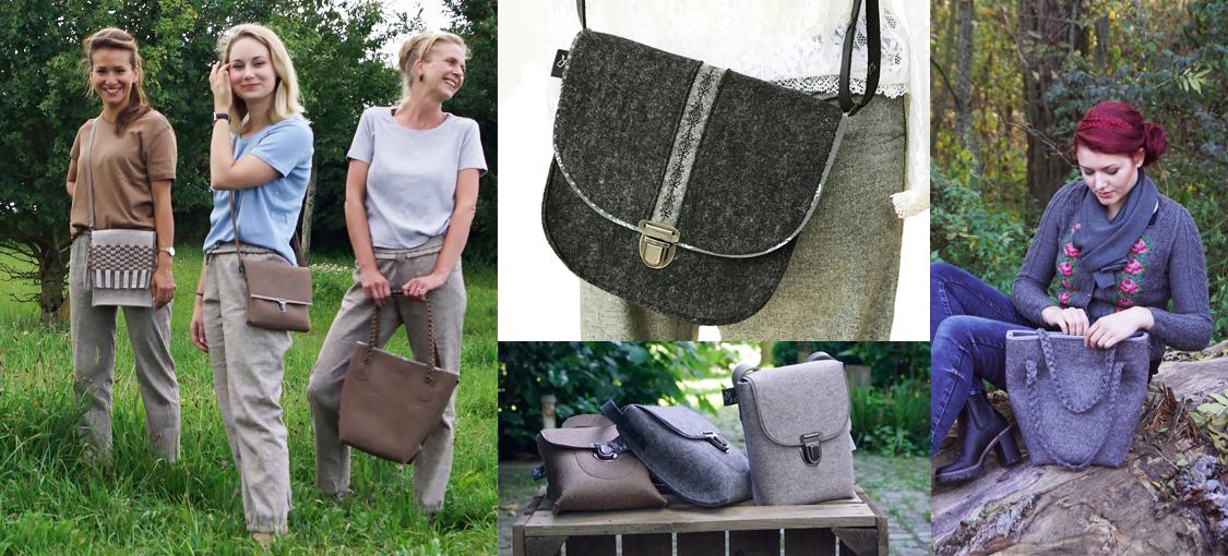 Birgit Bergmeier-Grimm designt Taschen aus Wollfilz